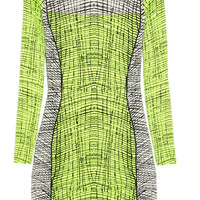 KENZO Stretch-knit cotton-blend mini dress – 70% at THE OUTNET.COM