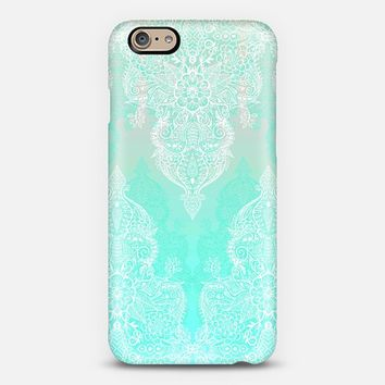Lace & Shadows in Mint, Aqua & White iPhone 6 case by Micklyn Le Feuvre | Casetify
