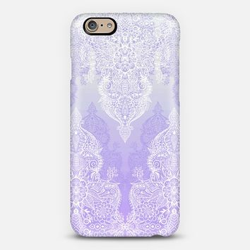 Lace and Shadows in Purple and White iPhone 6 case by Micklyn Le Feuvre | Casetify