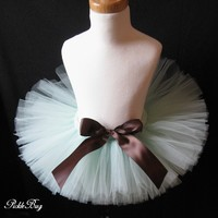 Chocolate Mint SEWN tutu - Little Girl's Tutu - Quality SEWN to last - Baby's Tutu