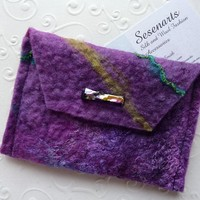 Card Wallet - Business Card Holder - Amethyst