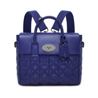 Cara Delevingne Bag in Indigo Quilted Lamb Nappa | Cara Delevingne | Mulberry