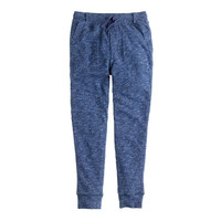 BOYS' SLIM SWEATPANT WITH STRIPE JERSEY LINING