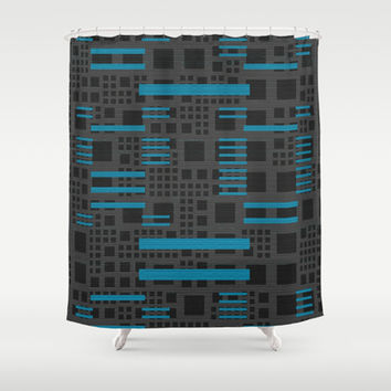 Metro Retro Shower Curtain by Lyle Hatch