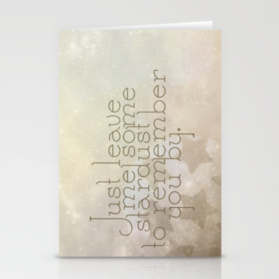 Stardust Stationery Cards by Rachel Burbee | Society6