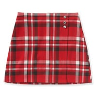 PS from Aero Kids' Plaid Skirt - Classic Red,