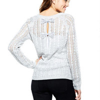 Detailed Bow-Back Sweater