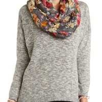 Oversized Marled Pullover Sweater by Charlotte Russe