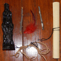 Black Magick Binding Seven Day Spell Kit - Dark Arts Binding Spell - Seven Day Binding Ritual - Black Candle Magick - Free Shipping