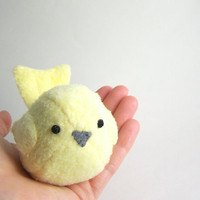 Handmade Pale Yellow Bird Stuffed Animal by bubbletime on Etsy