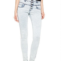 Skylar High-Rise Skinny Jeans in Light Acid