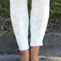 Something New Leg Warmers: White - One