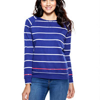 Sequin Stripe Sweatshirt