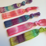 Tie Dye Hair Ties - No Dent