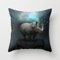 Power Is No Blessing In Itself v.2 (Protect the Rhino)  Throw Pillow by Soaring Anchor Designs ⚓