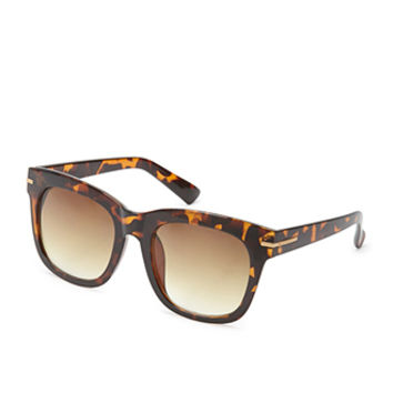 FOREVER 21 Square Sunglasses Brown/Brown One