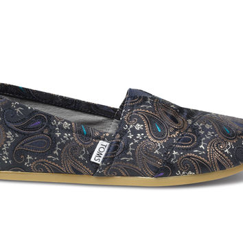 Navy TOMS+ Brocade Men's Classics