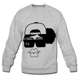 Snapbacks &amp; Natural Hair Boss Lady Crewneck Sweatshirt-Heather Gray