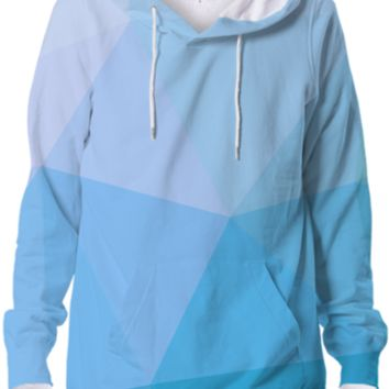 Cool Light Blue Geometry Hoodie Abstract Polygonal Design created by all-over-print-t-shirts | Print All Over Me