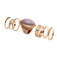 H&M - 7-pack Rings - Gold - Ladies