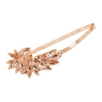 H&M - Bead-trimmed Hairband - Apricot - Ladies