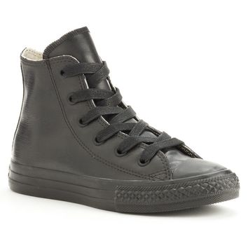 Converse Black All Star Rubber High-Top Sneakers for Boys