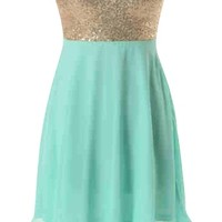Sequin Chiffon Dress