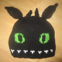 Toothless Hat - How to Train your Dragon - Knit