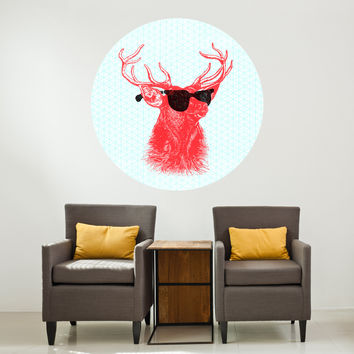 "Nick Nelson's ""Young Buck"" Circle Wall Decal - WallsNeedLove"