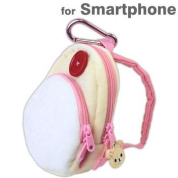 Strapya World : San- X Rilakkuma Cute Stuffed Backpack Smartphone Pouch (Korilakkuma)