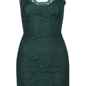 Lace Bodycon Tunic - Bottle
