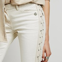 Free People Lace Up Skinny Jean