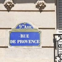 Paris Sign Rue de Provence Street of Provence 8 x 8 by magalerie