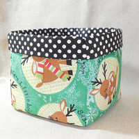 Cute Reindeer Inspired Fabric Basket