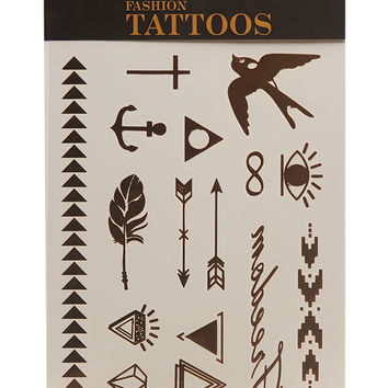Arrow Metallic Temporary Tattoos | Wet Seal