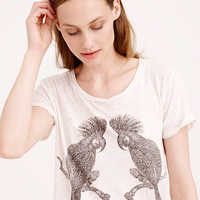 DRAPEY STUDDED PARROT TEE