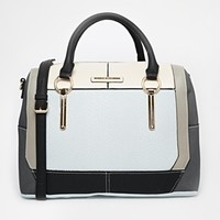 River Island Blue Color Block Structured Bag