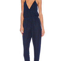Lucca Couture Cross Front Jumpsuit in Blue