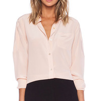 Marc by Marc Jacobs Silk Blouse in Peach