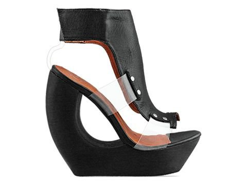 Jeffrey Campbell Roque 2 in Black Clear at Solestruck.com