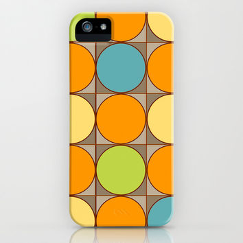 Squared Circles iPhone & iPod Case by Texnotropio