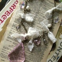 shabby tattered gypsy necklace