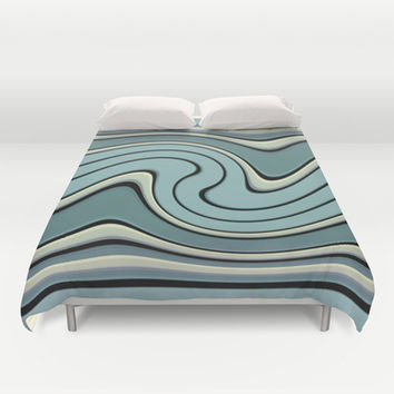 wavesB Duvet Cover by VanessaGF