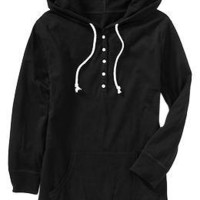 Women's Hooded Button-Jersey Pullovers | Old Navy