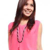 Korean Chiffon Blouse  Coral Pink