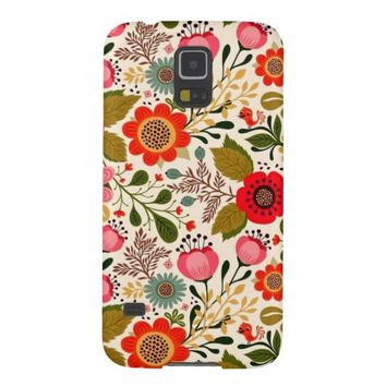 Pretty Retro Floral Pattern Samsung Galaxy S5 Case