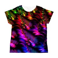 Special Fractal 29 Women's All Over Print T-Shirt> Special Fractal 29> MehrFarbeimLeben-special fractal