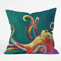 DENY Designs Home Accessories | Clara Nilles Mardi Gras Octopus Throw Pillow