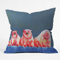 "Clara Nilles Polarbear Blush Throw Pillow - Indoor / 26"" x 26"" / Pillow Cover Only"