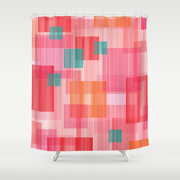 Abstract Red Shower Curtain by eDrawings38 | Society6